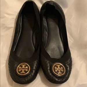 Tory Burch Leather Flats With Dust Bag